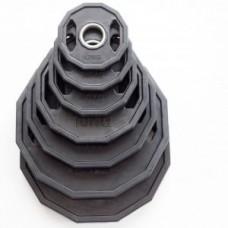 Kummeeritud raskusketas kroomitud rõngaga 1.25-25 kg 51 mm